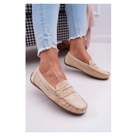 Women's Loafers Suede Beige Bolero Kesi