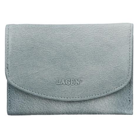 Lagen Dámská kožená peněženka LG-2522 Ocean Blue