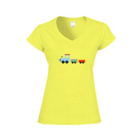 Dámské tričko V-výstřih Kids train