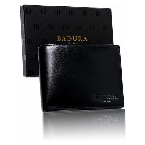 BADURA Black men´s wallet made of genuine leather Fashionhunters