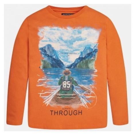 chlapecke triko mayoral 7005-11   oranžová