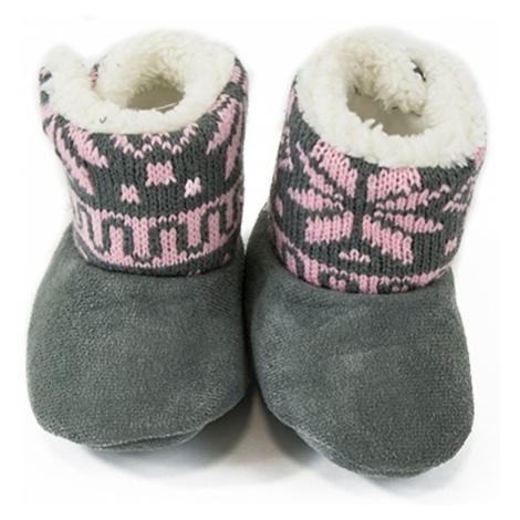 Pidilidi kojenecké capáčky zimní, Pidilidi, PD0561, růžová