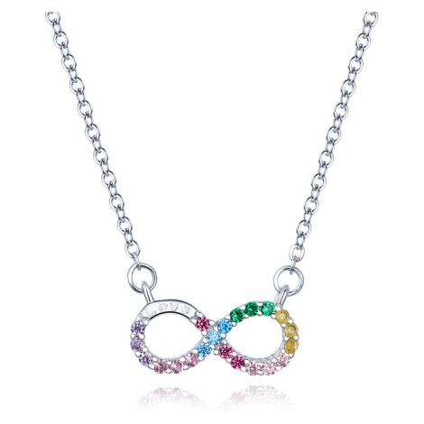 Linda's Jewelry Stříbrný náhrdelník Infinite Rainbow Ag 925/1000 INH069