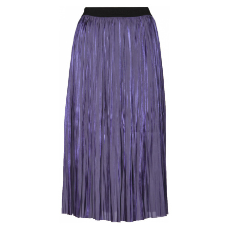 Sukně Karl Lagerfeld Pleated Iridescent Skirt - Fialová