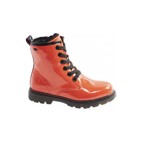 Oranžová šněrovací obuv se zipem Tom Tailor s TEX membránou