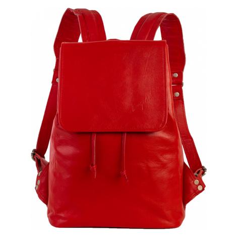 Bagind Daila Red - Dámský kožený batoh červený, ruční výroba, český design