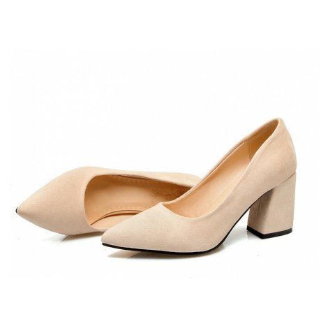 Semišové lodičky plesové boty svatební na hranatém podpatku
