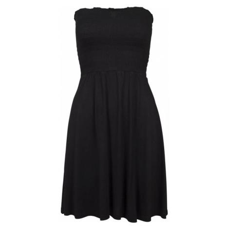 Ladies Smoke Bandeau Dress - black Urban Classics