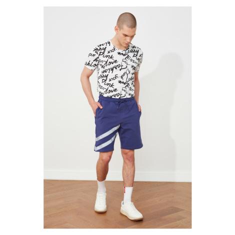 Trendyol Men's Purple Regular Fit Reflector Printed Shorts & Bermuda