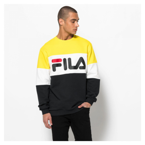 Žluto-bílé tričko Straight blocked crew Fila