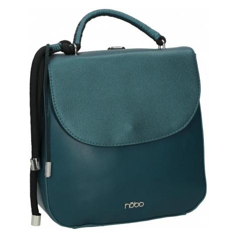 Sportovní dámský batoh kožený s klopou Nobo