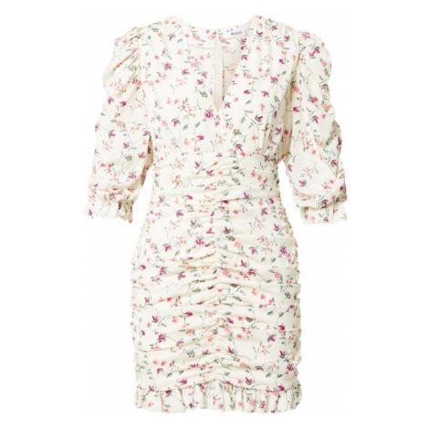 Missguided Koktejlové šaty bílá / pink / fialová / zelená