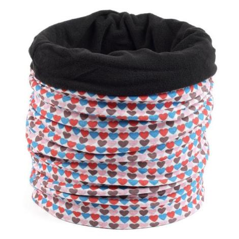 Finmark DĚTSKÝ MULTIFUNKČNÍ ŠÁTEK červená - Dětský multifunkční šátek s fleecem