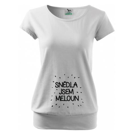 Vtipné tričko s potiskem pro těhotné maminky Snědla jsem meloun BezvaTriko