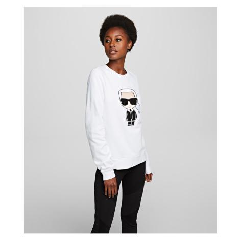 Mikina Karl Lagerfeld Ikonik Karl Sweatshirt - Bílá