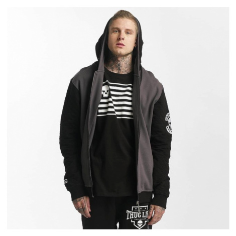 Thug Life / Zip Hoodie Whiteline in black