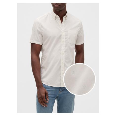 GAP bílá pánská košile Poplin