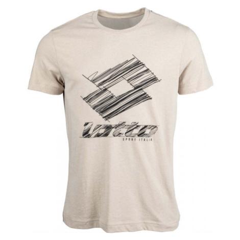 Lotto TEE LOSANGA PLUS JS béžová - Pánské tričko