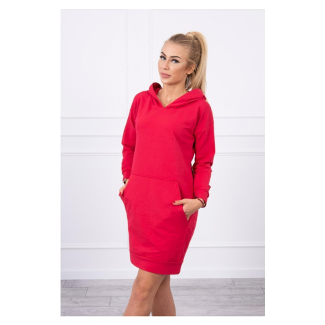 Hooded dress raspberry Kesi