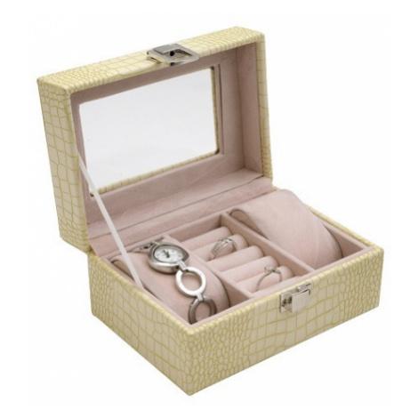 JK BOX SP-1813/A20, Dámská kazeta na hodinky a šperky krémová JKbox