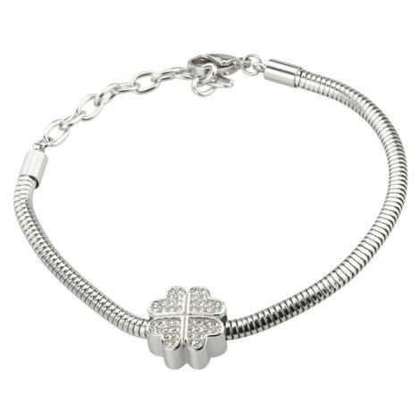 Linda's Jewelry Náramek Čtyřlístek chirurgická ocel INR084