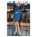 Modré rolákové šaty LS311