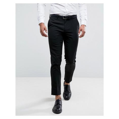 River Island slim fit smart trousers in black
