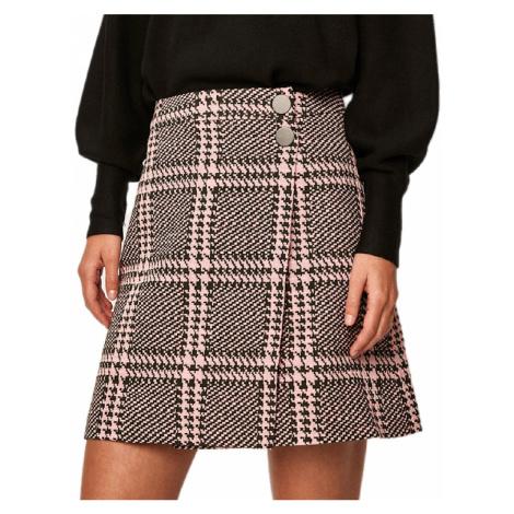 Růžovo-černá sukně GUESS