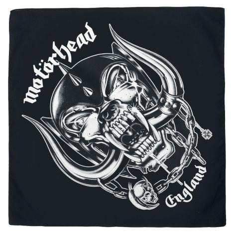 Motörhead England - Bandana Bandana - malý šátek cerná/bílá