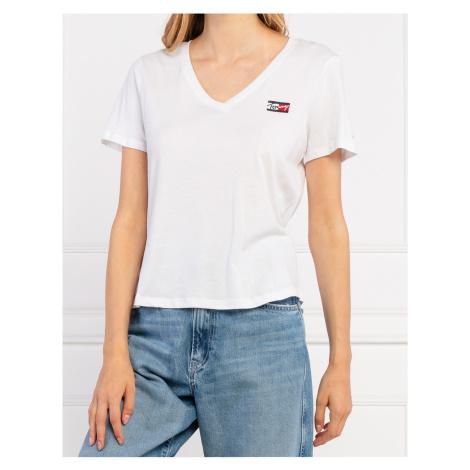 Tommy Jeans dámské bílé triko Tommy Hilfiger