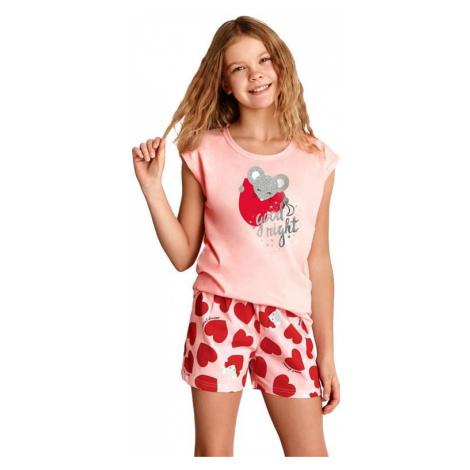 Dívčí pyžamo Eva růžové se srdíčkem Taro