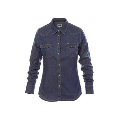 Košile Wrangler Slim Western Dark Stone tmavě modrá