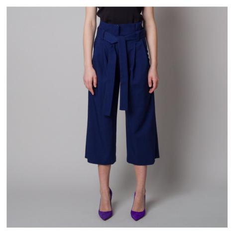 Dámské látkové kalhoty culottes tmavě modré 12617 Willsoor
