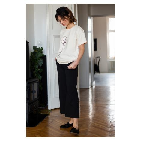 Černé široké kalhoty B188