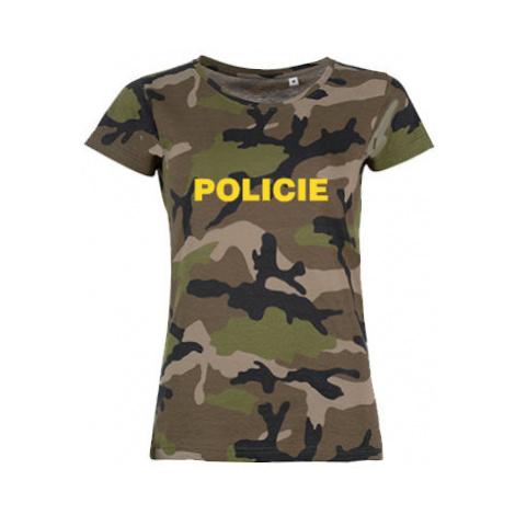 Dámské maskáčové tričko Policie