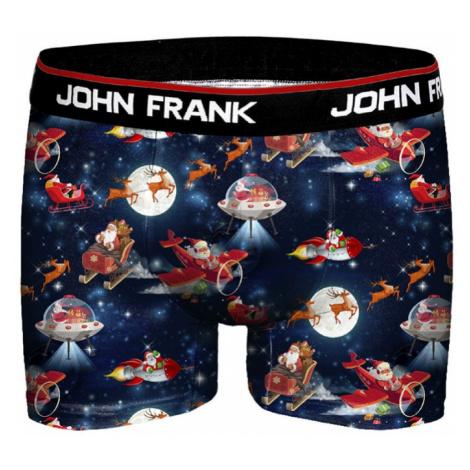 Pánské vánoční boxery John Frank JFBD10 Vesmír | černá