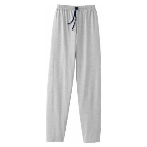 Blancheporte Jednobarevné pyžamové kalhoty, šedý melír šedý melír