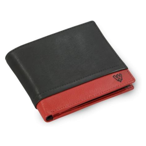 Černo červená pánská kožená peněženka Makenna Arwel
