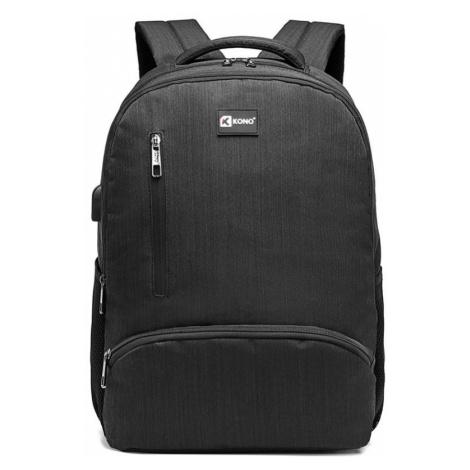 Černý multifunkční batoh Kono