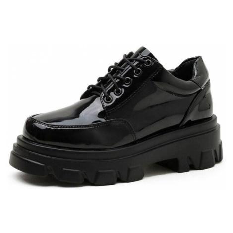 Lakované tenisky šněrovací boty na platformě GoodDayGirl