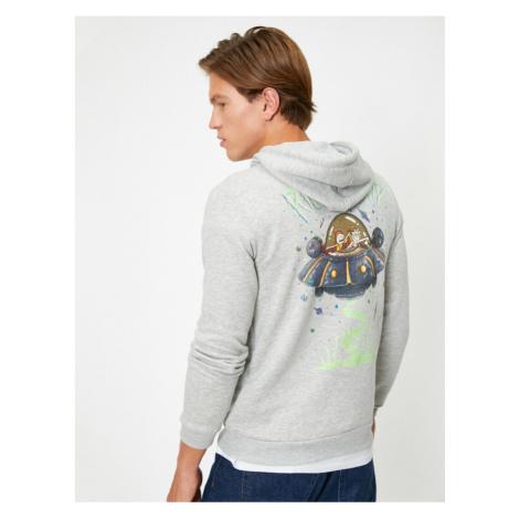 Koton Male Grey Rick And Morty Printed Sweatshirt
