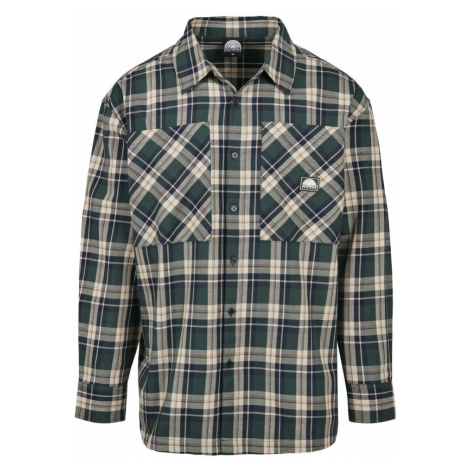 Southpole Check Flannel Shirt - green Urban Classics