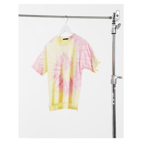 Only short sleeve boxy t shirt in tie dye-Multi
