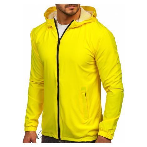 Žlutá pánská sportovní bunda větrovka Bolf HH035 J.STYLE