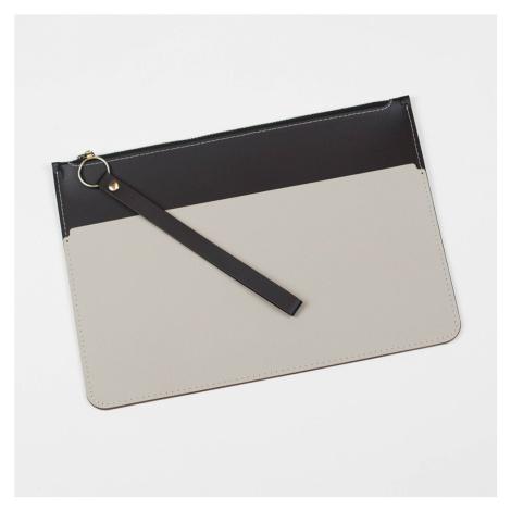 Černo-šedé kožené psaníčko – Envelope VACAVALIENTE
