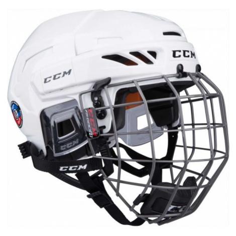 CCM FITLITE 90 COMBO SR bílá - Hokejová helma