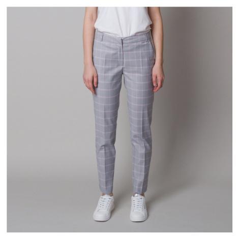 Dámské společenské kalhoty s károvaným vzorem 12623 Willsoor