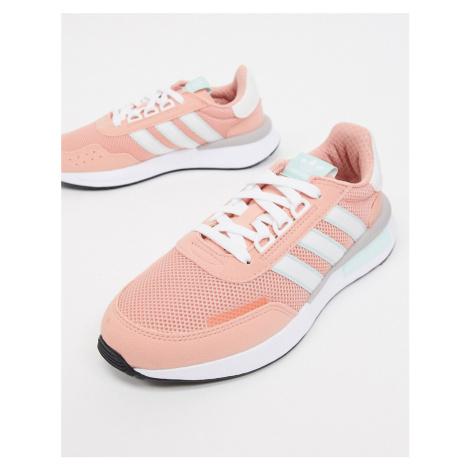 Adidas Originals Retroset trainers in pink and white