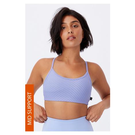 Sportovní podprsenka Yoga Crop fialová fialová Cotton On