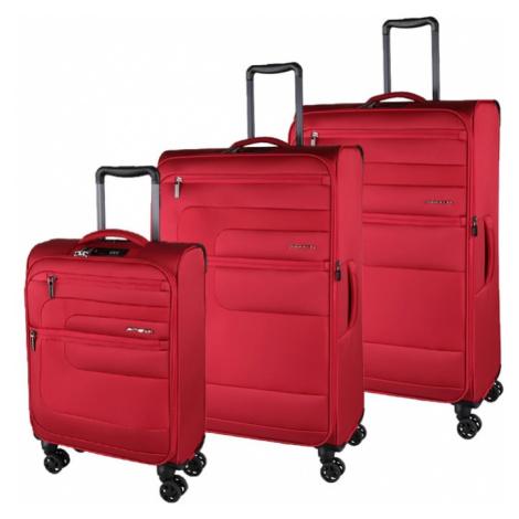 March Sada cestovních kufrů Classic S + M + L, červená